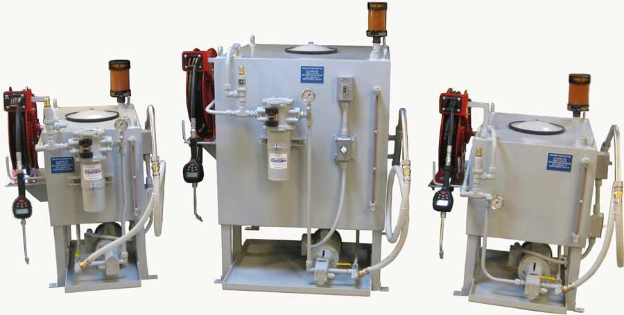Dispensing Systems for oil, ATF, coolants, & other common industrial fluid applications.